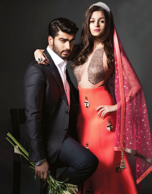 Arjun And Alia's Photoshoot For Harper's Bazaar Bride Magazine