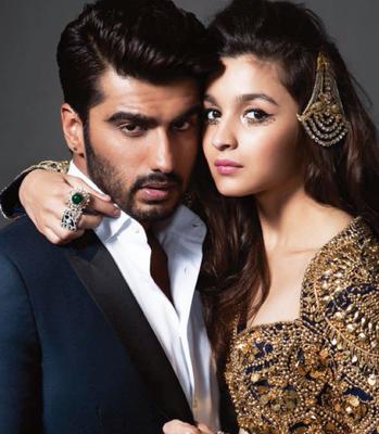 Arjun Kapoor And Alia Bhatt On Harper's Bazaar Bride Magazine Cover