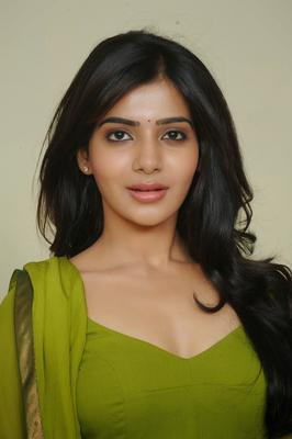 Samantha Ruth Prabhu In Green Churidar Dazzling Look Photo Still
