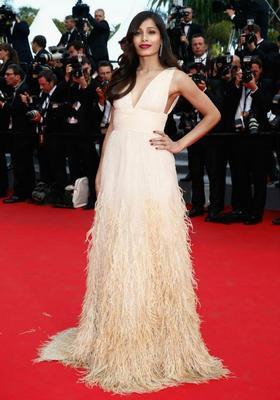 Freida Pinto At Saint Laurent Premiere At Cannes 2014