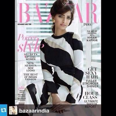 Sonam Kapoor Harper Bazaar India Magazine July 2014 Issue
