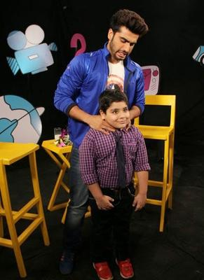 Arjun Kapoor And Sadhil Kapoor Cool Look On The Set Of Disney's Chat Show Captain Tiao