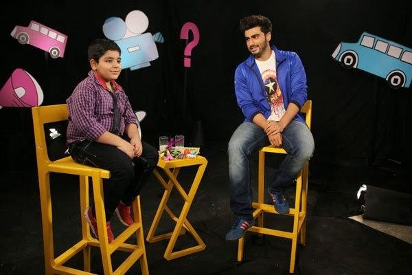Sadhil Kapoor Chat With Arjun Kapoor On The Set Of Disney's Chat Show Captain Tiao