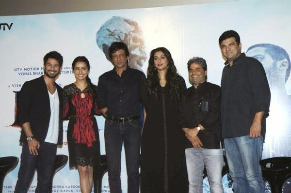 Shahid,Shraddha,Kay Kay Menon,Tabu,Vishal And Siddharth Posed For Camera During The Launch Of Haider Movie