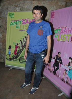 Kunal Kohli In Blue Tee During The Screening Of Vir Das Film Amit Sahni Ki List