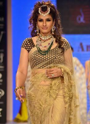 Actress Raveena Tandon Turns Head At IIJW 2014 Fashion Show