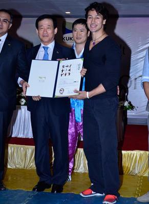 Tiger Shroff Honoured With 5th Degree Black Belt