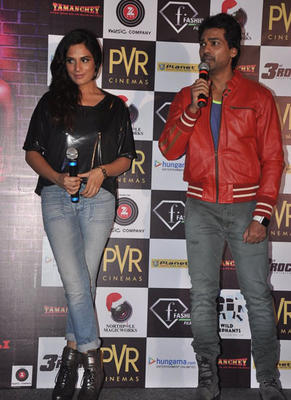 Actors Richa And Nikhil Present For The Trailer Launch Of Their Upcoming Film Tamanchey