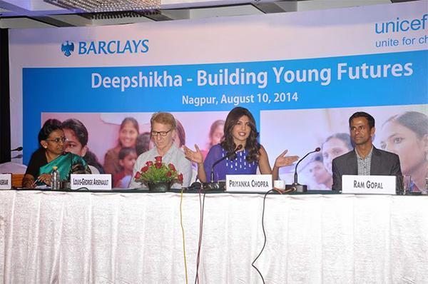 Priyanka Chopra Supports UNICEF's Deepshika - Building Young Futures