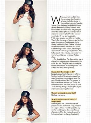 Sonakshi Sinha Exclusive Photo Shoot For August Issue On The Juice Magazine Of Jabong