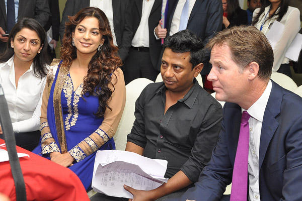 Juhi Chawla At VEDA Movie Launch Event