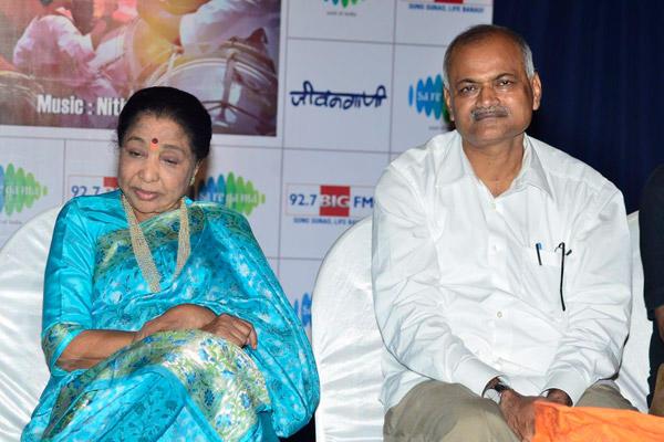 Asha Bhosle Launched The Bappa Moraya Album At IMFAA