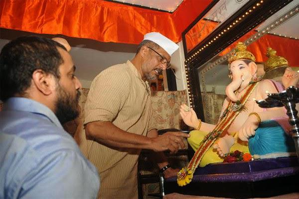 Nana Patekar Celebrates Ganesh Festival At His Residence