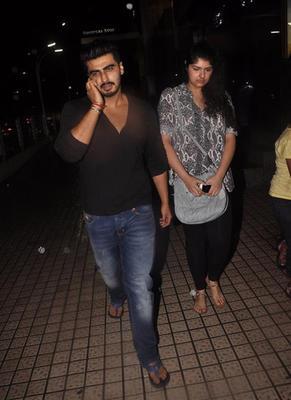 Sonakshi Sinha And Arjun Kapoor Snapped At PVR