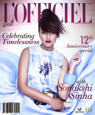 Sonakshi Sinha Charming And Stunning Look For  L'officiel September 2014