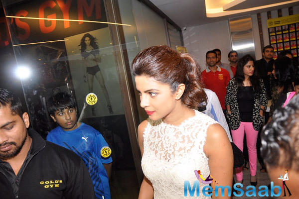 Priyanka Chopra At Gold Gym Event For Mary Kom Promotions