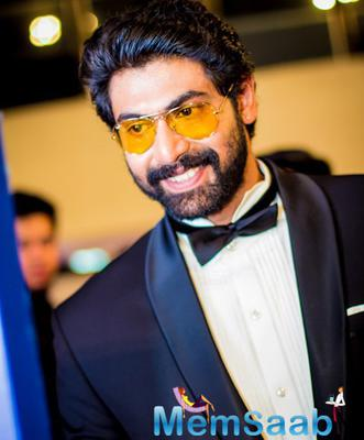 Rana Daggubati Smiling Pose On Day 2 Of Micromax SIIMA Awards 2014