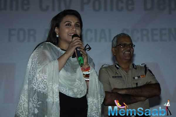 Rani Mukerji Organised Mardaani Special Screening For Pune Police Department