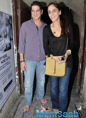 Sangeeta Bijlani And Amrita Singh Snapped At PVR Juhu