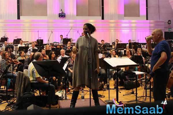 Sona Mohapatra Rehearsal Pic With The London Philharmonic For BBC Radio