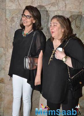 Rekha And Sridevi Attended Khoobsurat Screening