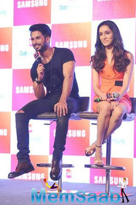 Shahid And Shraddha Promote Haider At The Launch Of Club Samsung