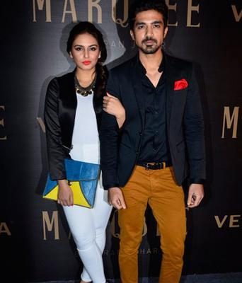Huma With Her Bro Saqib Saleem Pose During The Karan's Vero Moda Collection