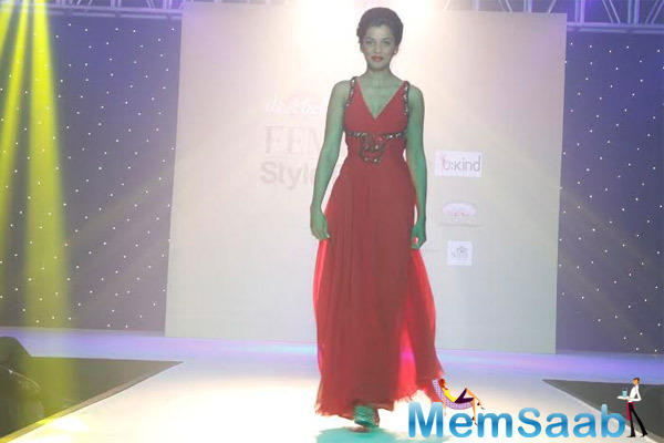 Mugdha Godse Hot Look On Ramp Walk At Femina Style Diva 2014