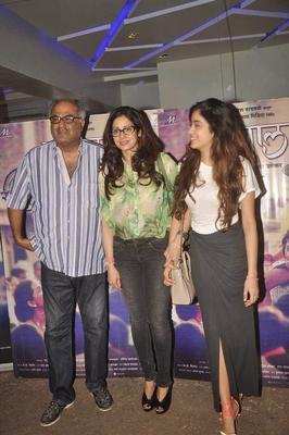 Sridevi And Jhanvi Snapped At Tapaal Movie Screening