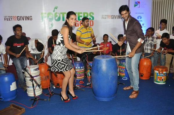 Purab Kohli And Tara Sharma At Footsteps Good's Fund Raiser Event