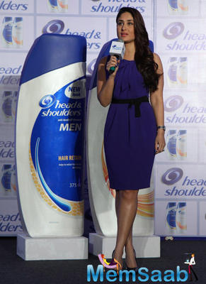 Kareena Kapoor Interact With Media During The Head And Shoulders Hair Care Product Launch