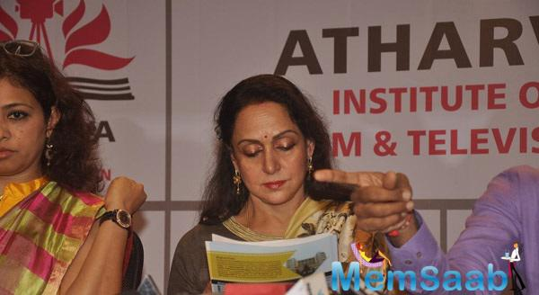 Hema Malini At Atharva Institute Of Film And Television For New Talents