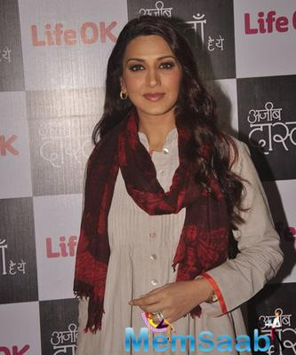 Sonali Bendre At Her New Fiction Show Ajeeb Dastaan Hai Yeh Launch