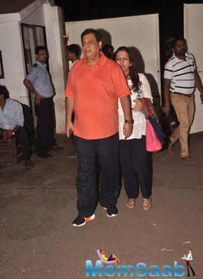 David Dhawan Arrived To Attend The Haider Movie Screening