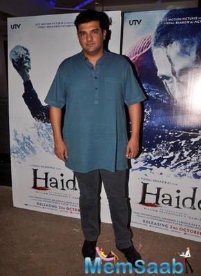 Siddharth Roy Kapur Present At The Screening Of Haider Movie