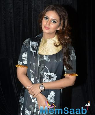 Bollywood Beauty Huma Qureshi Attend The Wills Lifestyle India Fashion Week
