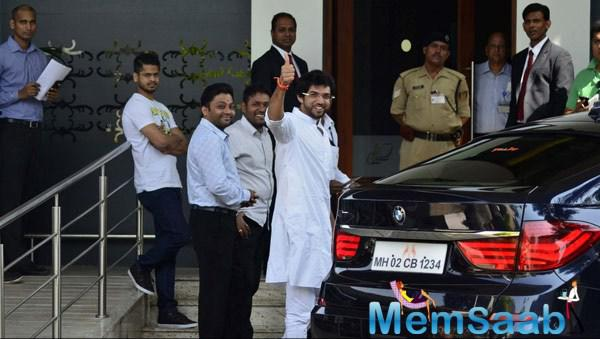 Aditya Thackeray Spotted When He Leaves For Nasik
