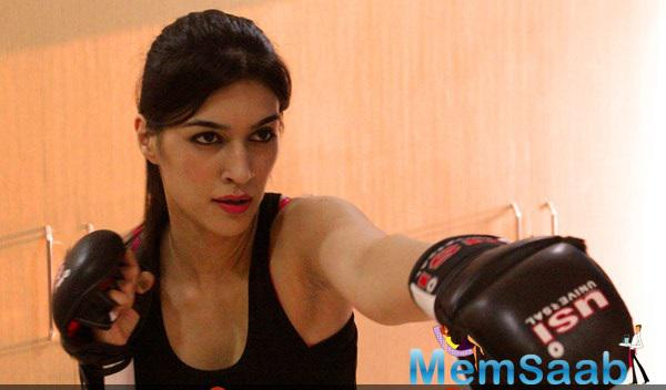Kriti Sanon Gearing Up For Her New Film Singh Is Bling
