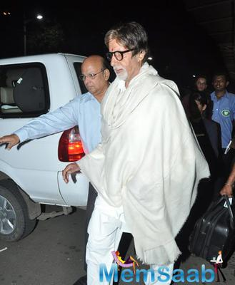 Big B, Lisa Haydon And Annu Kapoor Clicked At Domestic Airport