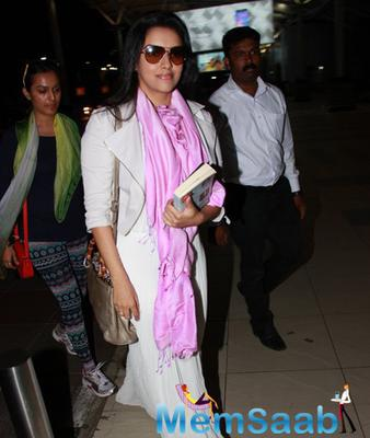 Asin Thottumkal Clicked At The Mumbai Airport
