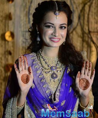 Dia Mirza And Sahil Sangha Engagement Ceremony Pics