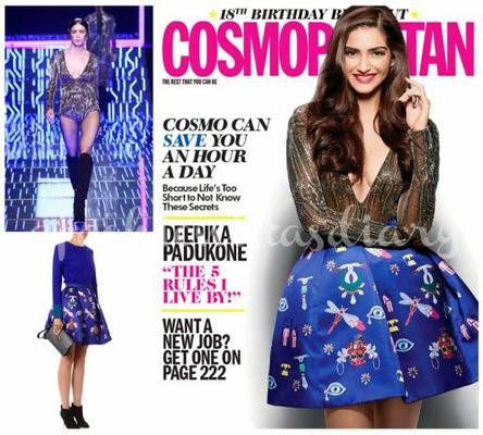 Sonam Kapoor Beautiful Look Photo Shoot For Cosmopolitan India 18th Anniversary Issue
