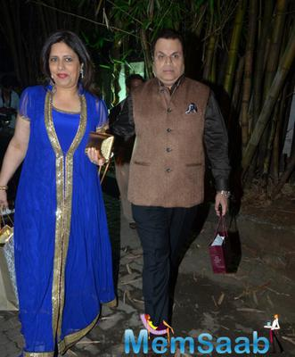 Ramesh Taurani Of TIPS Industries Arrived With Wife Sneha At Shilpa Shetty's Diwali Bash