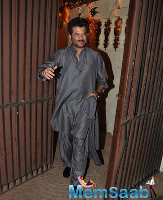 Anil Kapoor Snapped In Juhu At A Private Diwali Bash