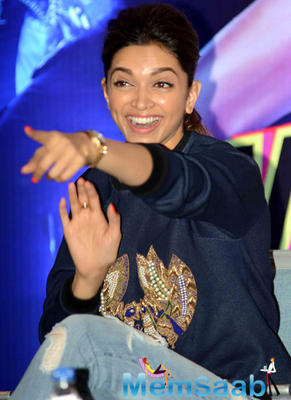 Deepika Padukone Looked Cool And Chic At The Promotion Of HNY Movie In Delhi