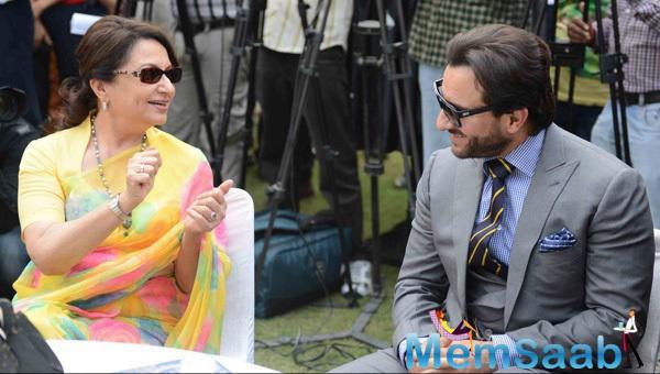 Saif Ali Khan Cool Gossip With Mom Sharmila Tagore At The Bhopal Pataudi Polo Cup 2014