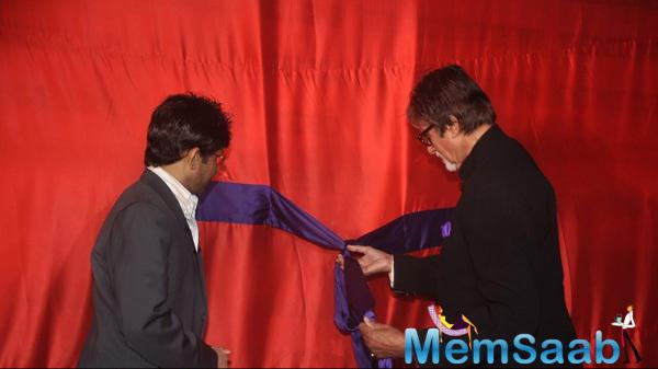 Amitabh Bachchan Launches The Website And Kamaal Rashid Khan Looks On During The Launch Of KRK Box Office Website