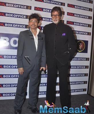 Kamaal Rashid Khan And Amitabh Bachchan Posed During The Launch Of KRK Box Office Website