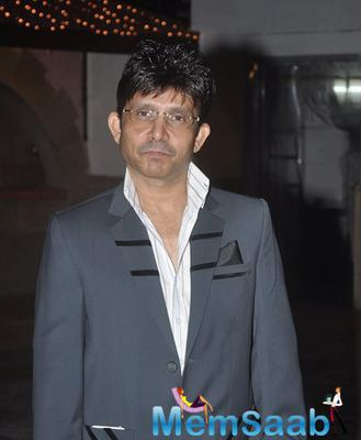 Kamaal Rashid Khan Posed For Media At The Launch Of His Box Office Website
