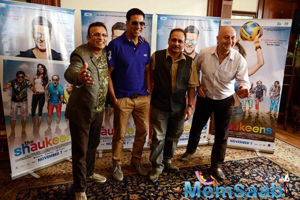 Akshay Kumar Promotes The Shaukeens Movie In Delhi